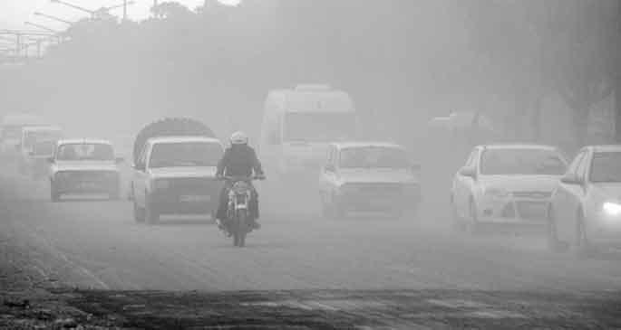 Sis değil, toz bulutu