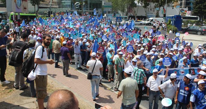 Şişecam işçileri grev yasağına karşı yürüdü