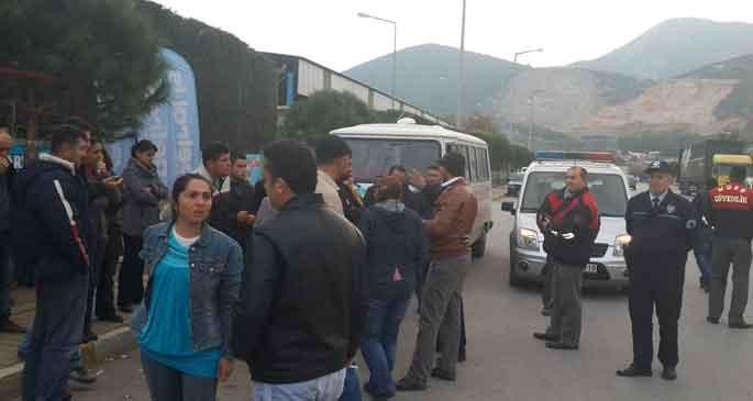 Standart Profil işçilerinin çadırına engel