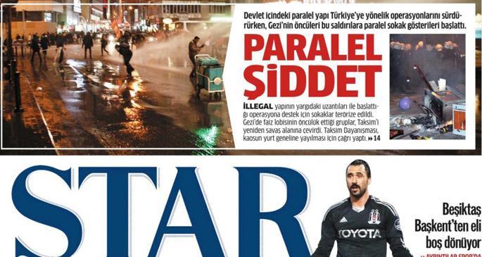 Taksim eylemi paralel devletin işiymiş!