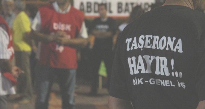 'Taşerona hayır' tişörtüne tutanak