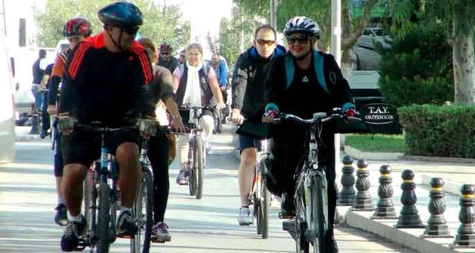 Trafiğe çözüm bisiklet