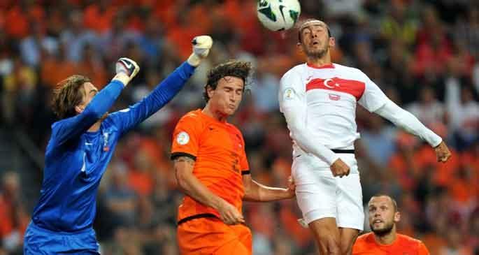 Türkiye-Hollanda maçının ilk 11\