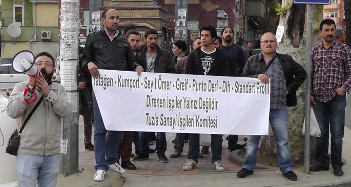 Tuzla Sanayi işçilerinden direnişteki işçilere destek