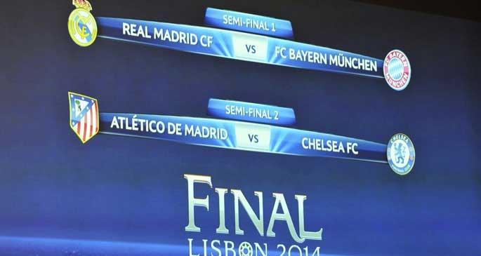 Şampiyonlar Ligi ve Avrupa Ligi\'nde yarı final eşleşmeleri belli oldu