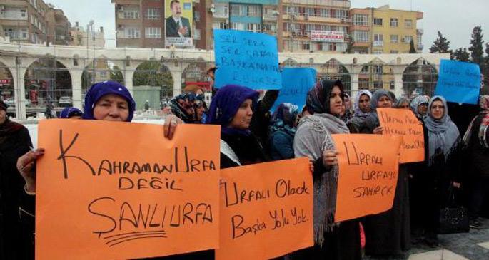 Urfa Valisinin aday gösterilmesini bir grup AKP\