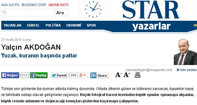 Yalçın Akdoğan: Tuzak, kuranın başında patlar