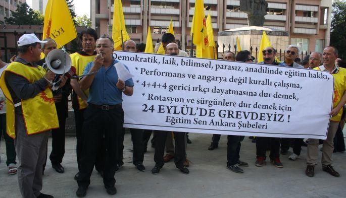 Eğitim Sen'den MEB önünde grev çağrısı
