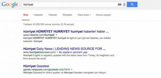 Google'dan spam'e karşı önlem