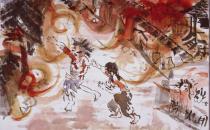 Atom bombasından kurtulanlar Hiroşima'yı çizdi