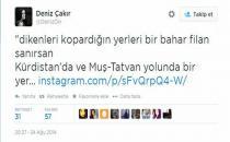 Deniz Çakır'a 'Kürdistan' tahammülsüzlüğü