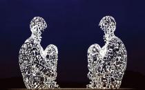 Dev meditasyon heykeli: Trıptych