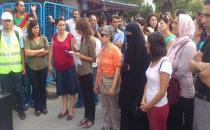 Kadınlar Esenyurt Belediye Başkanı Kadıoğlu'nu protesto etti