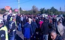 Melih'in öldüğü hemzeminde protesto