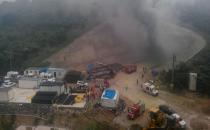 Yüksek Hızlı Tren inşaatında yangın çıktı