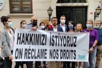 Türkiye Gazeteciler Sendikası, AFP Türkiye Bürosunun kapısına grev ilanını astı