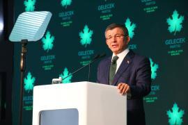 """Eski Başbakan Ahmet Davutoğlu, """"Gelecek Partisi""""ni tanıttı"""