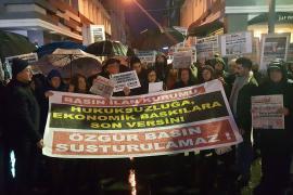 Samsun'da Evrensel ve BirGün'e destek: Sesimiz olan bu gazetelere sahip çıkmalıyız