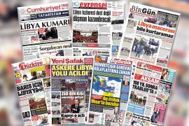 """Libya tezkeresi gazete manşetlerinde: Tezkere """"barış"""" içinmiş"""