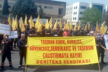 Çiğli'de tekstil işçilerinden mücadele ilanı
