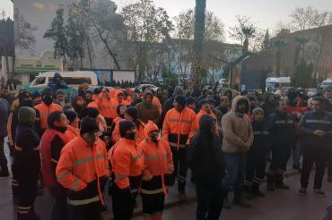 Kent AŞ ve Personel AŞ işçileri ödenmeyen ücretler ve TİS maddeleri için eylem yaptı