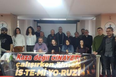 İSİG İzmir Meclisi: 2019'da en az 74 işçi, iş cinayetinde hayatını kaybetti