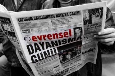 İzmir'de kitle örgütlerinden Evrensel'e destek: Evrensel doğru yaptığı için hedefte
