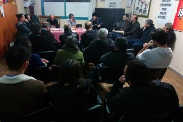 Çiğli'de çeşitli iş kollarında çalışan işçiler bir araya geldi