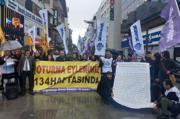 KHK'yle ihraçlara karşı KESK 134. haftada da eylem gerçekleştirdi