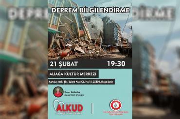ALKUD deprem bilgilendirme semineri düzenleyecek