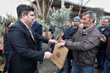 Buca Belediyesi köylere 1800 zeytin fidanı dağıttı