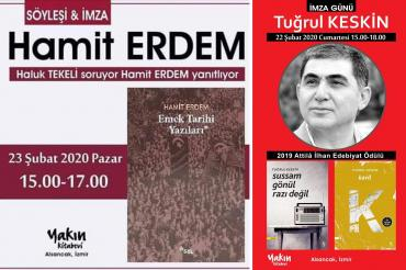 İzmir'de şair Tuğrul Keskin ve yazar Hamit Erdem okurları ile buluşuyor