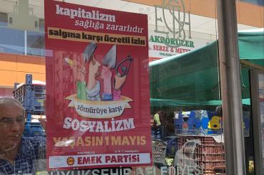 İzmir Valiliği Emek Partisinin 1 Mayıs afişlerini toplattı