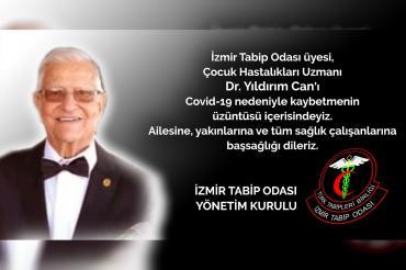İzmir'de Dr. Yıldırım Can koronavirüs nedeniyle hayatını kaybetti