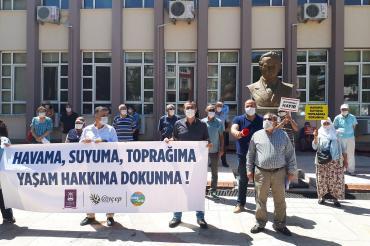 Aydın'da JES'e direnen köylülere kesilen sosyal mesafe cezalarına itiraz edildi