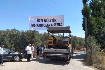 Yelki'de tepkiler sonucu Go Kart pisti inşaatındaki iş makinaları alandan çekildi