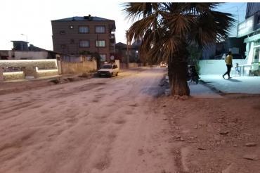 Denizli Karşıyaka Mahallesi'nde yaşayanlar bitmeyen altyapı çalışmasından şikayetçi