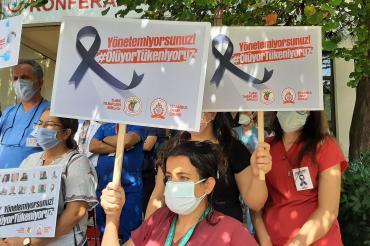 Eğitim İş Denizli Şubesi'nden TTB'ye destek: Faşizm bir halk sağlığı sorunudur
