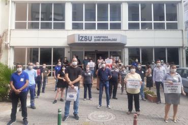 İZSU çalışanları dönüşümlü çalışma talep etti