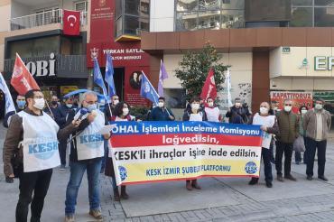 BES İzmir Şubesi: OHAL Komisyonu suç işlemektedir