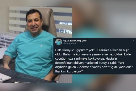 """""""Bizi kim koruyacak?"""" diyen Dr. Salih Cenap Çevli Kovid-19'dan yaşamını yitirdi"""