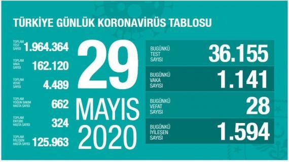 Türkiye'de koronavirüsten yaşamını yitirenlerin sayısı 4 bin 489'a yükseldi