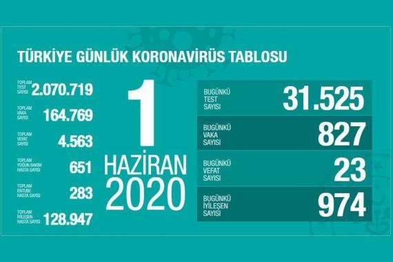 Türkiye'de koronavirüsten yaşamını yitirenlerin sayısı 4 bin 563'e yükseldi