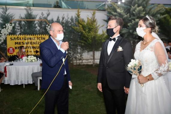 Bakan Soylu düğün denetiminde: Cumhurbaşkanımızın nasihati var, en az 3 çocuk