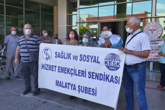 SES Malatya: Kronik hastalığı olan sağlıkçıların izin iptalleri yeniden düzenlensin