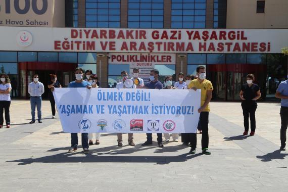 Diyarbakır'da Kovid-19'a yakalanan sağlık çalışanlarının sayısı 800'ü aştı