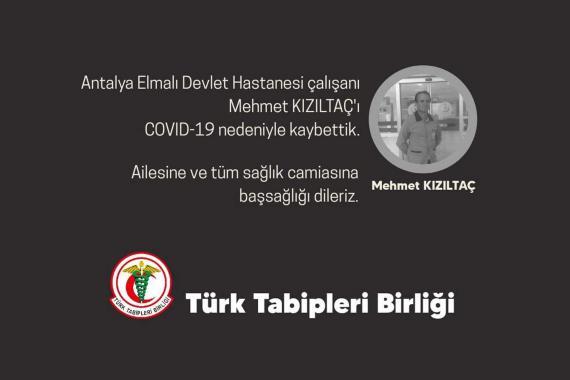 Sağlık çalışanı Mehmet Kızıltaç, Kovid-19 nedeniyle yaşamını yitirdi