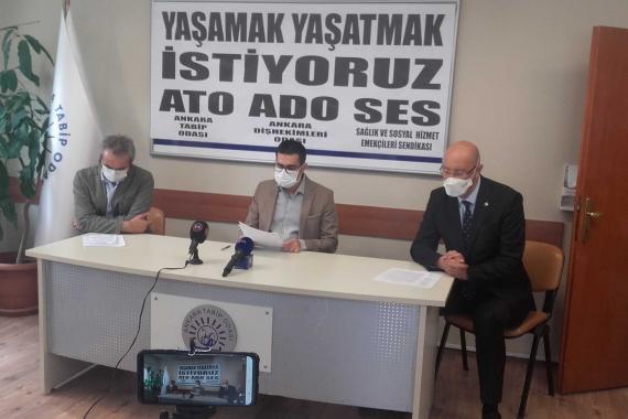 Ankara'da Kovid-19'a yakalanan sağlık çalışanı sayısı 1072 oldu