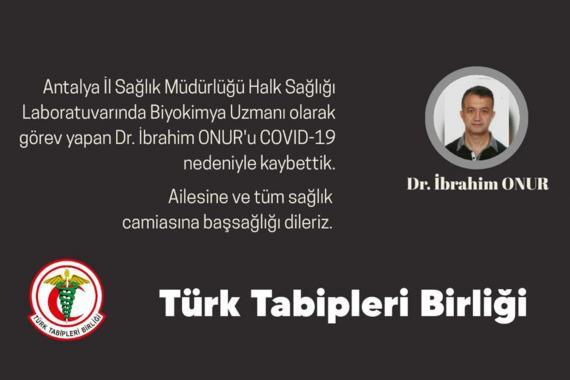 Dr. İbrahim Onur, Kovid-19 nedeniyle hayatını kaybetti