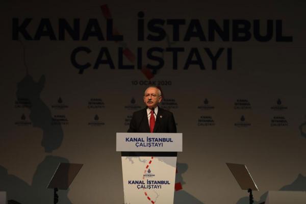 Kanal İstanbul Çalıştayı'nda konuşan Kemal Kılıçdaroğlu